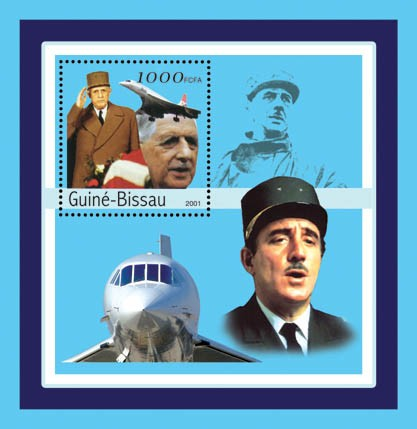 Charles De Gaulle    S/S - Issue of Guinée-Bissau postage stamps