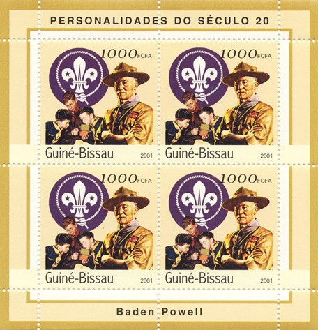 Baden Powell   4 x 1000 FCFA - Issue of Guinée-Bissau postage stamps