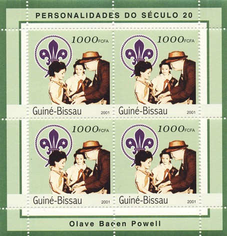 Olave Baden Powell   4 x 1000 FCFA - Issue of Guinée-Bissau postage stamps