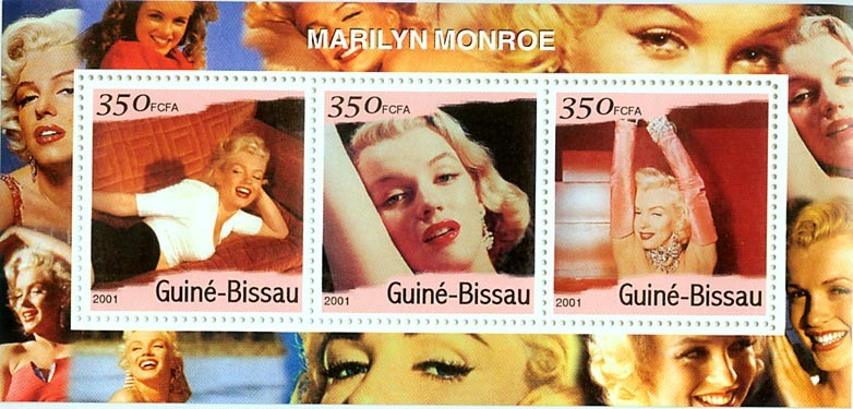 Marilyn Monroe S/S - Issue of Guinée-Bissau postage stamps
