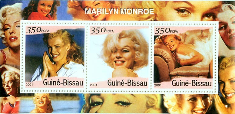 Marilin Monroe S/S - Issue of Guinée-Bissau postage stamps