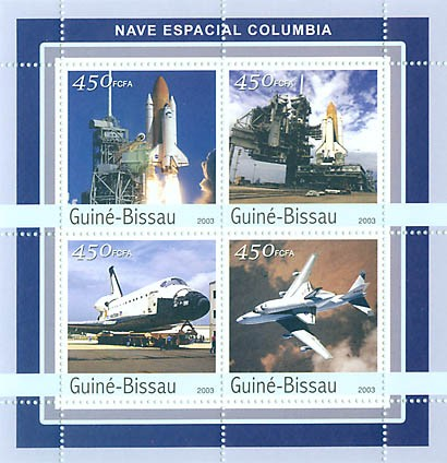 Columbia  4 x 450 FCFA - Issue of Guinée-Bissau postage stamps