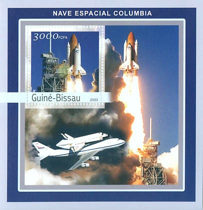 Columbia S/S 3000 FCFA - Issue of Guinée-Bissau postage stamps