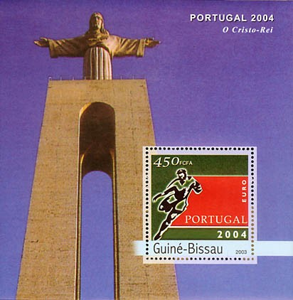 Football EURO 2004 Porugal  S/S 3000 FCFA - Issue of Guinée-Bissau postage stamps