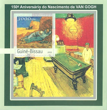 150th  Anniv. Naissan. de Van Gogh S/S 3000 FCFA - Issue of Guinée-Bissau postage stamps