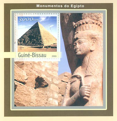 Monument of Egipte  3000 FCFA S/S - Issue of Guinée-Bissau postage stamps