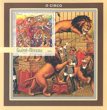 Circus 3000 FCFA S/S - Issue of Guinée-Bissau postage stamps