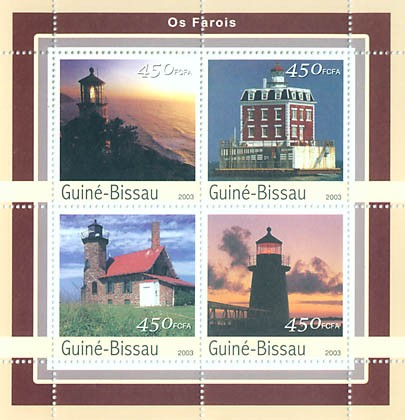 Lighthouses  4 x 450 FCFA - Issue of Guinée-Bissau postage stamps