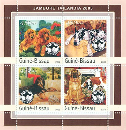 Jamboree Tailandia 2003 - dogs 4 x 450 FCFA - Issue of Guinée-Bissau postage stamps