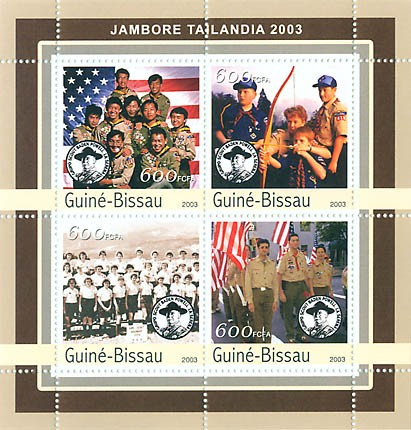 Jamboree Tailandia 2003 - scouts 4 x 600 FCFA - Issue of Guinée-Bissau postage stamps