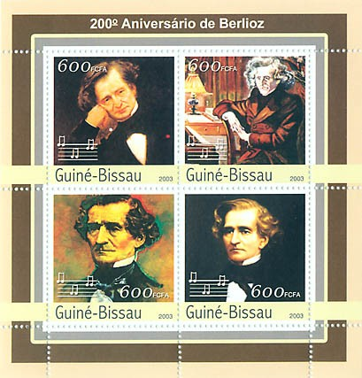 200th Anniv. Naissan. de Berlioz  4 x 600 FCFA - Issue of Guinée-Bissau postage stamps