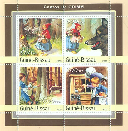 Tales of Grimm  4 x 600 FCFA - Issue of Guinée-Bissau postage stamps