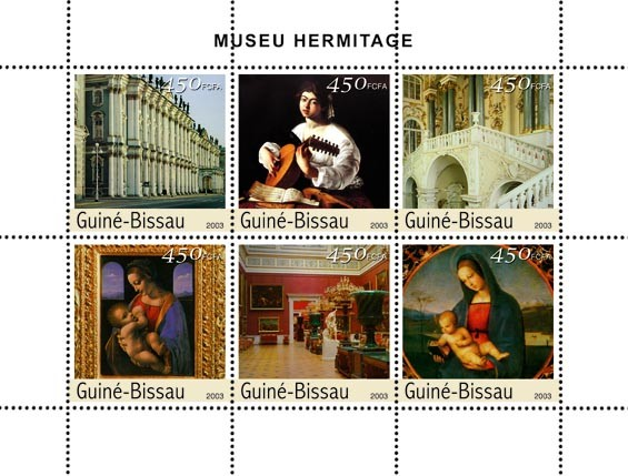 Museum of Hermitage   6 x 450 FCFA - Issue of Guinée-Bissau postage stamps