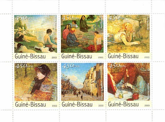 Museum of Osray 6 x 450 FCFA - Issue of Guinée-Bissau postage stamps