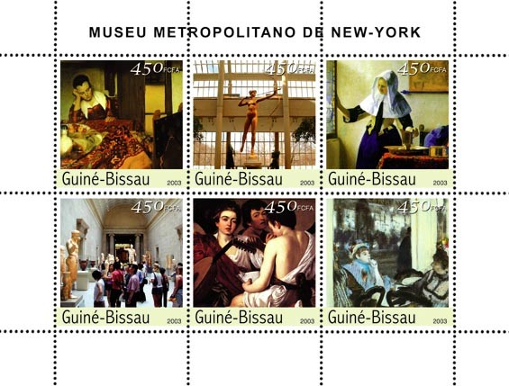 Museum of Metropolian 6 x 450 FCFA - Issue of Guinée-Bissau postage stamps