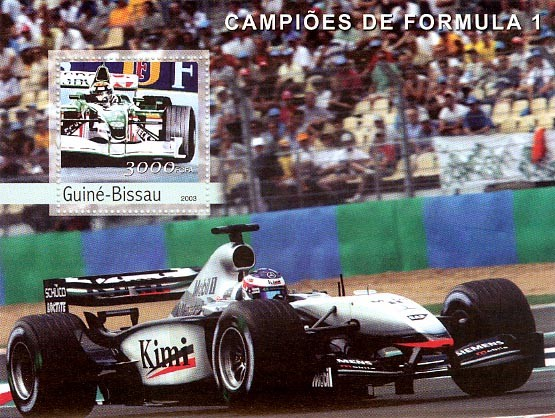 Formula 1 3000 FCFA S/S - Issue of Guinée-Bissau postage stamps
