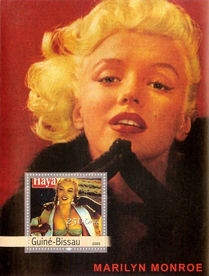 Marilyn Monroe 2500 FCFA S/S - Issue of Guinée-Bissau postage stamps