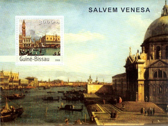 Saving Venice 3000 FCFA S/S - Issue of Guinée-Bissau postage stamps