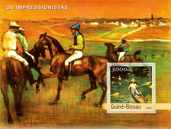 Impressionists 1  (Courbet) 3000 FCFA  S/S - Issue of Guinée-Bissau postage stamps