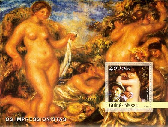 Impressionists 1  (Renoir) 4000 FCFA  S/S - Issue of Guinée-Bissau postage stamps
