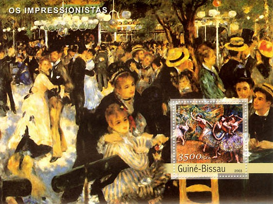 Impressionists 2 (Degas) 3500 FCFA  S/S - Issue of Guinée-Bissau postage stamps