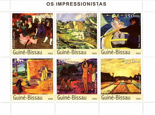 Impressionistes 3 - Issue of Guinée-Bissau postage stamps