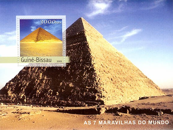 Seven wonders of the world 3000 FCFA  S/S - Issue of Guinée-Bissau postage stamps