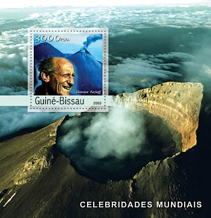 H.Tazieff  (volcan)3000 FCFA   S/S - Issue of Guinée-Bissau postage stamps