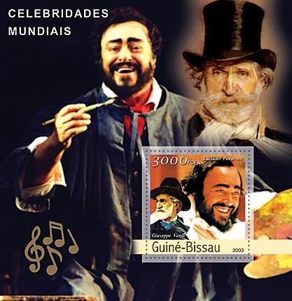 Pavarotti - Verdi  3000 FCFA   S/S - Issue of Guinée-Bissau postage stamps
