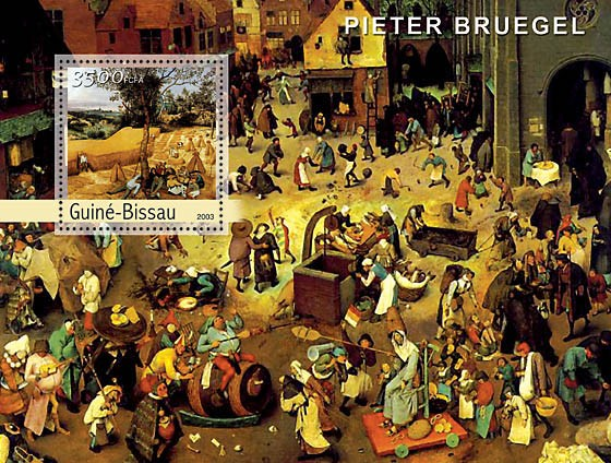 Paintings of Bruegel s/s 3500 - Issue of Guinée-Bissau postage stamps