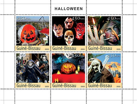 Celebrations of Halloween 6v x450 - Issue of Guinée-Bissau postage stamps