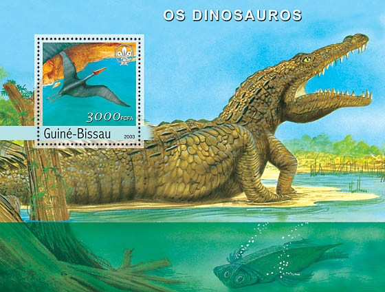 Dinosaurs s/s 3000 - Issue of Guinée-Bissau postage stamps