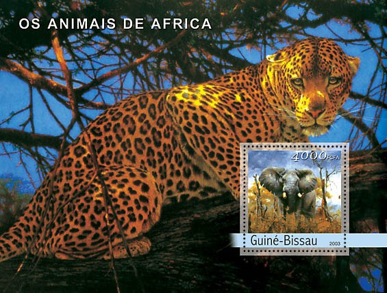 Animals of Africa s/s 4000 - Issue of Guinée-Bissau postage stamps