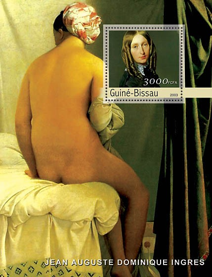 Paintings of Ingres s/s 3000 - Issue of Guinée-Bissau postage stamps