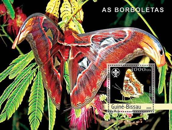 Butterflies s/s 3000 - Issue of Guinée-Bissau postage stamps