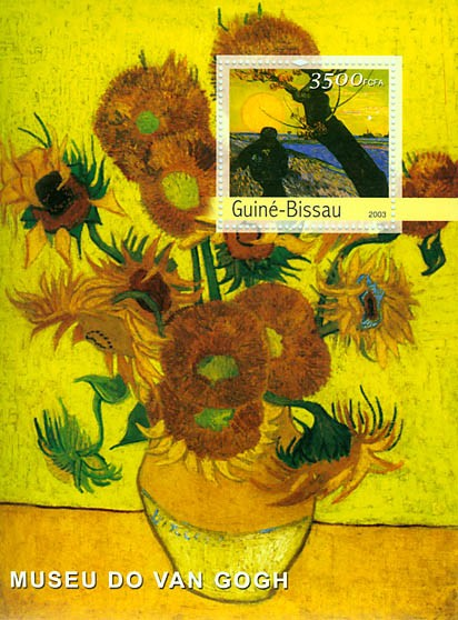 Paintings (Museum of Van Gogh) s/s 3500 FCFA - Issue of Guinée-Bissau postage stamps
