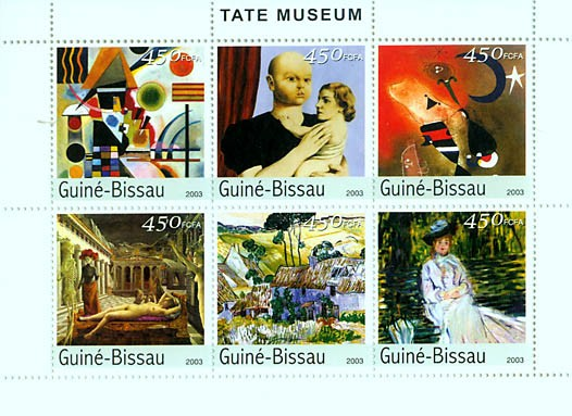 Paintings (Museum of Tate) 6v x 450 FCFA - Issue of Guinée-Bissau postage stamps