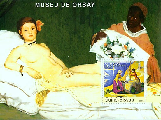 Paintings (Museum of Orsay) s/s 4500 FCFA - Issue of Guinée-Bissau postage stamps