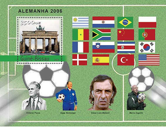 Football-2006 Germany 3500 F - Issue of Guinée-Bissau postage stamps