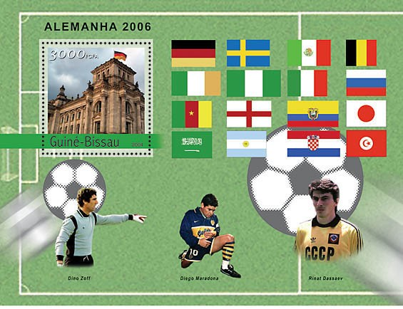 Football-2006 Germany 3000 F - Issue of Guinée-Bissau postage stamps