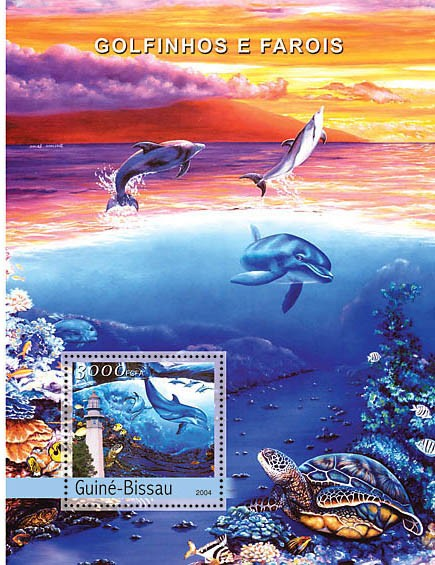 Dolphins & Lighthouses 3000 F - Issue of Guinée-Bissau postage stamps