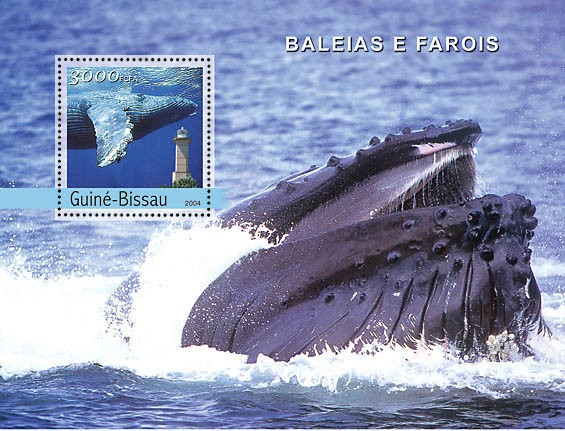 Whales & Lighthouses 3000 F - Issue of Guinée-Bissau postage stamps