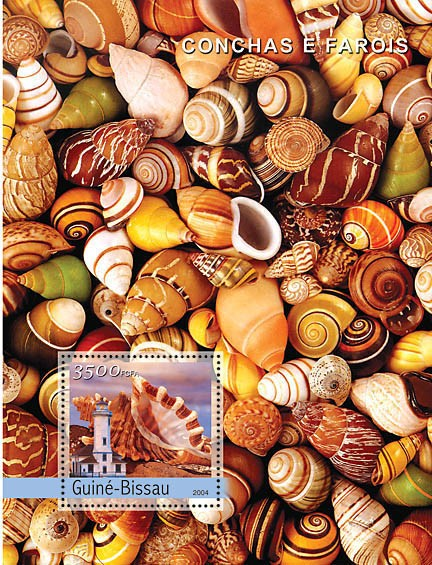 Shells & Lighthouses 3500 F - Issue of Guinée-Bissau postage stamps