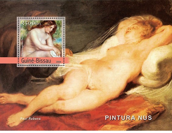 Nude Paintings 3500 F - Issue of Guinée-Bissau postage stamps