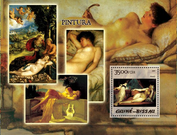 Paintings (Nudes) S/s 3500 - Issue of Guinée-Bissau postage stamps