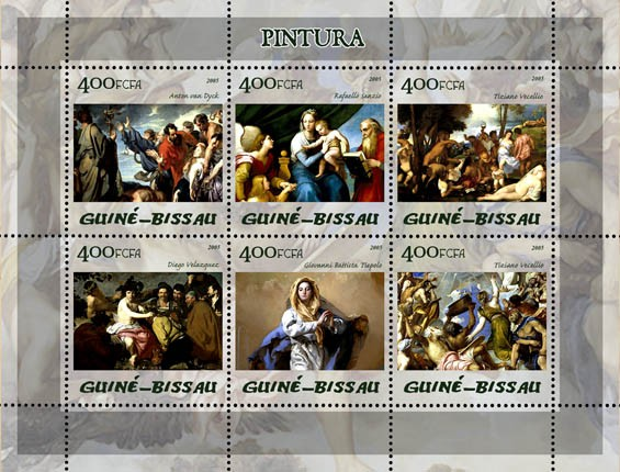 Paintings (Museum Prado) 6v x 400 - Issue of Guinée-Bissau postage stamps