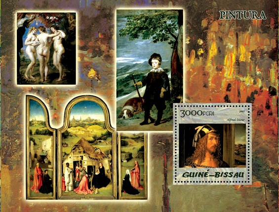 Paintings (Museum Prado) S/s 3000 - Issue of Guinée-Bissau postage stamps