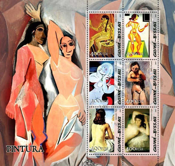 Paintings of Spanish - Issue of Guinée-Bissau postage stamps