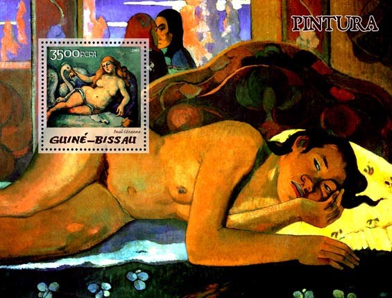 Paintings of French impressionists S/s 3500 - Issue of Guinée-Bissau postage stamps