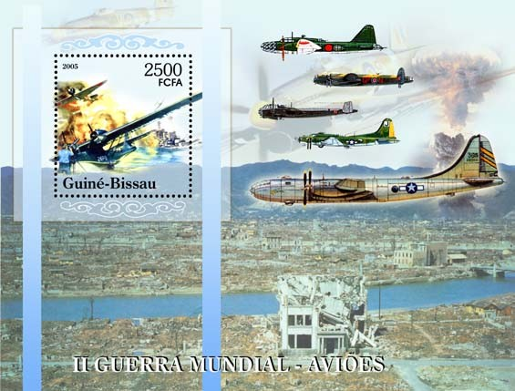 II World War - Military Aviation - Issue of Guinée-Bissau postage stamps